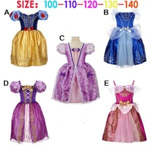 Other - Princess Costume Dress-Yellow Blue